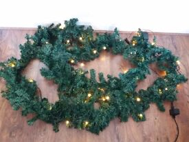 Extra long (4.5m) Christmas garland with lights