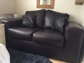 2 Seater leather sofa for sale hardly used A1 condition