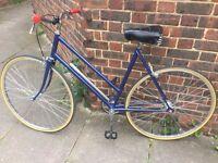 Vintage 1970s Raleigh Ladies Single Speed Bicycle – Fully Restored – Brookes Saddle