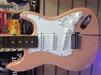 Aria light pink guitar with VOX amp NEW