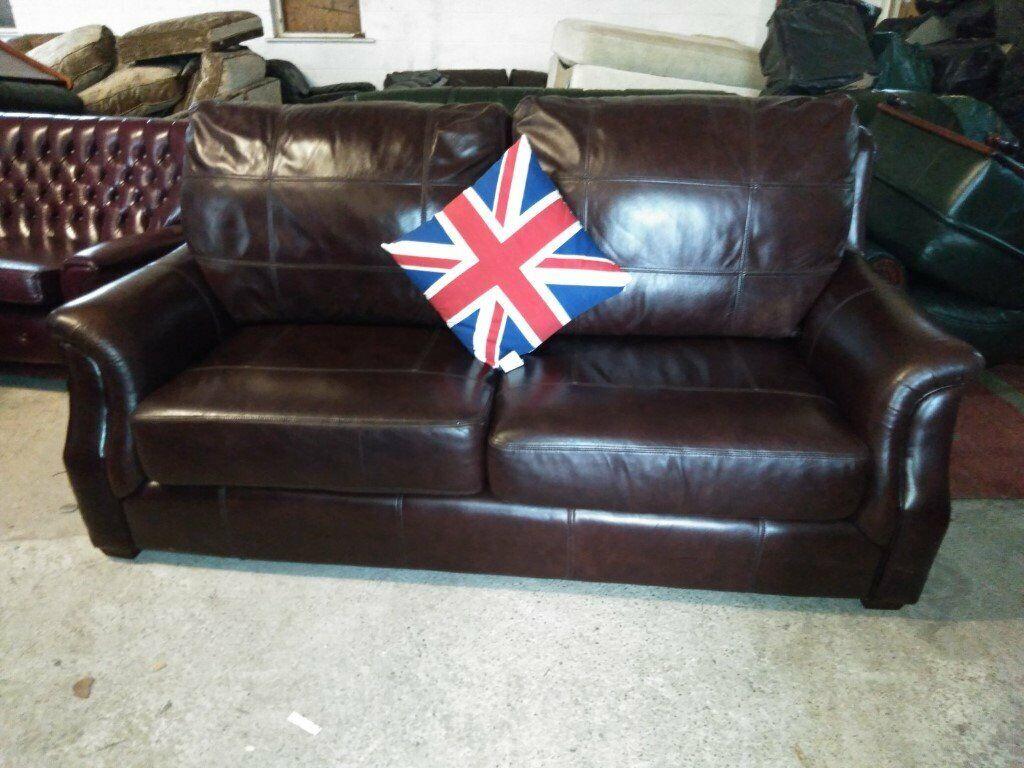 WADE Leather Sofa settee in VGC Del Poss | in Crewe ...