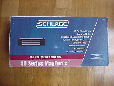 Schlage 40-630 Maglock Mag Lock - 600 Lb Holding - 1224vdc Automatic Selection
