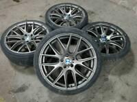 20 ALLOY WHEELS WITH TYRES 5X120 FIT BMW 4 5 6 7 SERIES X3 X5, T5, VIVARO RANGE ROVER....