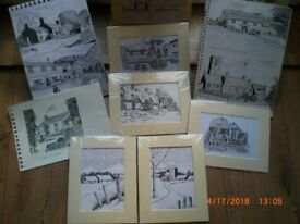 my original artwork consisting of watercolours, and pen and ink drawings 40 years worth I am selling