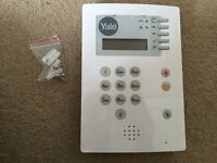 Yale Alarm wireless System, includes PIR, sensor and instructions.