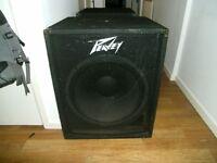"A pair of peavey 18"" bass bins PA / DJ"