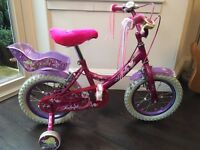"Girls Bike Raleigh Molly 14"" good condition"