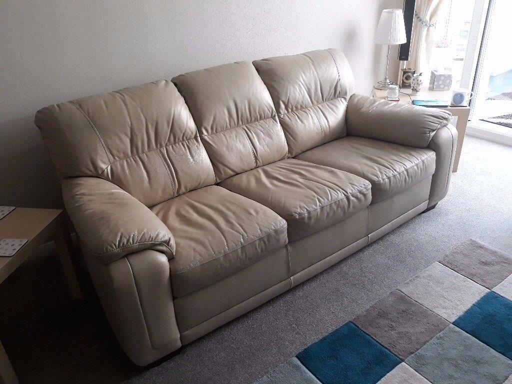 FREE _ Cream Leather Sofa