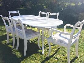 Stunning table and six chairs