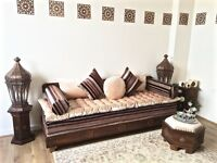 Luxurious Moroccan Sofa Bench, Daybed, 3 Seater, Couch, Majlis, Moroccan Decor, Arabian Sofa,