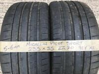 Michelin Pilot Sport 235 35 20 car tyres 235/35/20 part worn 2353520 used not 245 or 255