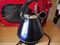 blue electric cordless kettle