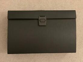 X2 Rapesco Expanding Box File Document Organiser 19 Pocket (Black)