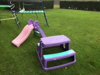 Kids Outdoor Slide and Picnic Bench