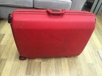 Red Samsonite Suitcase