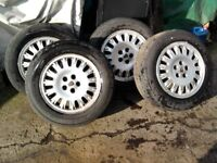 Rover75 alloy wheels with Free tyres. 195/65 x 15