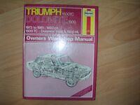 Haynes Triumph Dolomite Owners Workshop Manual