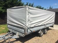 Brenderup trailer dropside enclosed with cages 14ft by 6ft 6 2.5 tons