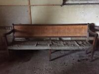 3 x Church pews, restoration project £100 each ono