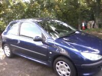 PEUGEOT 206 1-4S 3-DOOR 2004 (53 PLATE MARCH 16th 2019 MOT WITH NO ADVISORIES, GOOD SOUND CONDITION,