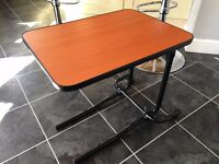 NRS Healthcare over bed and chair table - tilting & adjustable.