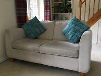 2.5 seat cream sofa bed