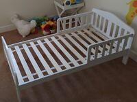 White Mothercare Darlington Toddler Bed Frame