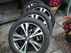 Nissan Qashqai 18'' Alloy Wheels & Tyres, as new