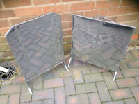 ART DECO CHROME FIRE SCREEN, EXCELLENT CONDITION