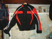 Motorcycle Jacket by Akito , Red and Black