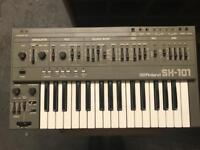 Roland sh 101 with midi and modification