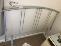 Silver Metal Headboard (Double)