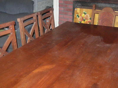 WOOD TABLE DINNING ROOM  SEATS 10 CHAIRS CONFERENCE ROOM TABLE