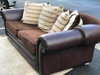 Leather & Fabric Sofa (EXCELLENT CONDITION!!!) (@07752751518)