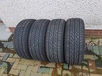 4 Tyres 225/55 R17 Near New
