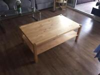 Ikea Norrebo pine coffee table