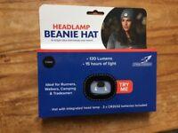 Headlamp beanie hat
