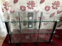 Clear & Chrome TV Stand £20