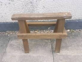Small outdoor work bench