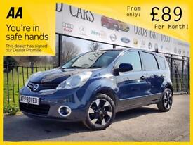 NISSAN NOTE 1.6 N-TEC PLUS 5d AUTO 110 BHP Apply for finance O (blue) 2012