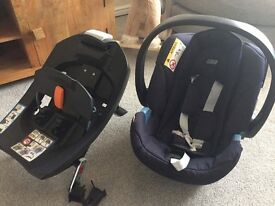 Mamas and papas Navy Aton car seat and ISOFIX