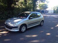 03/2003 reg Peugeot 206 Quiksilver 1.4 Petrol 2 dr Silver 12 months MOT Good Runner