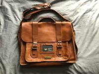 """ONO Dr. Martens Brown/ tan leather 13"""" Satchel ONO"""
