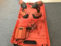 Hilti SIW-22A Impact Wrench & SID 4-A22 Impact Driver + 2 Batteries & Charger