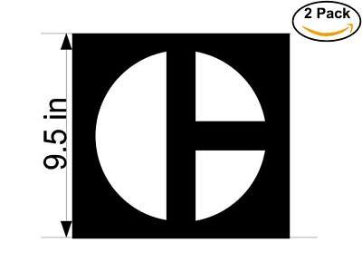 Caterpillar 2 Stickers 9.5 inches Sticker Decal