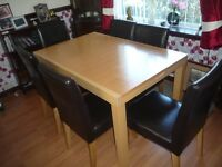 chairs 6 plus extending table