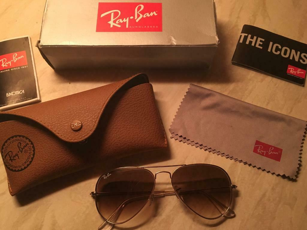 ce745f1d6 Ray-Ban Aviator Gold RB3025 55mm   in Chandlers Ford, Hampshire ...