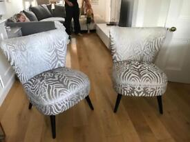Pair of Beautiful grey/silver chairs