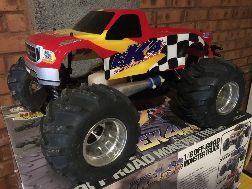 Rc Nitro Monster Truck Thunder Tiger Ek4 S2 Vintage In Exeter Devon Gumtree