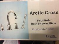 Four hole bath shower mixer